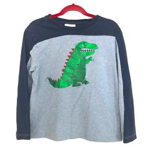 3/$25 Hanna Andersson Dino Jersey Henley Top 6